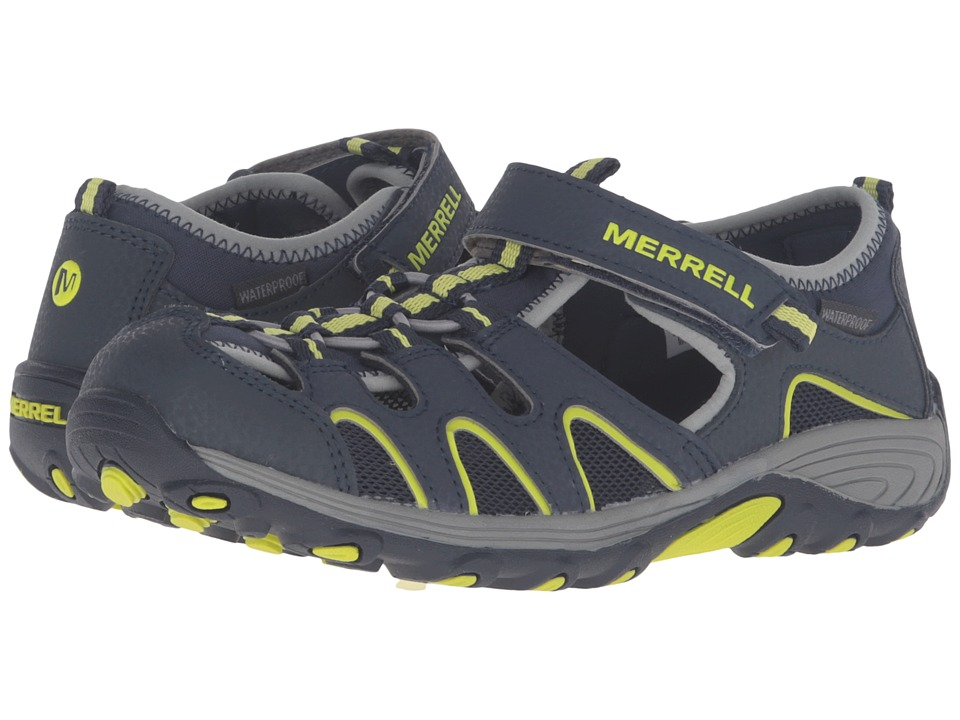 Merrell Kids - Hydro H2O Hiker Sandals (Big Kid) (Navy/Lime) Boy's Shoes