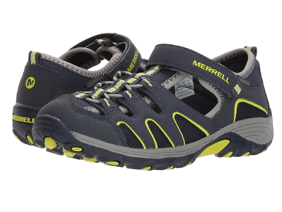 Merrell Kids - Hydro H2O Hiker Sandals (Toddler/Little Kid) (Navy/Lime) Boy's Shoes