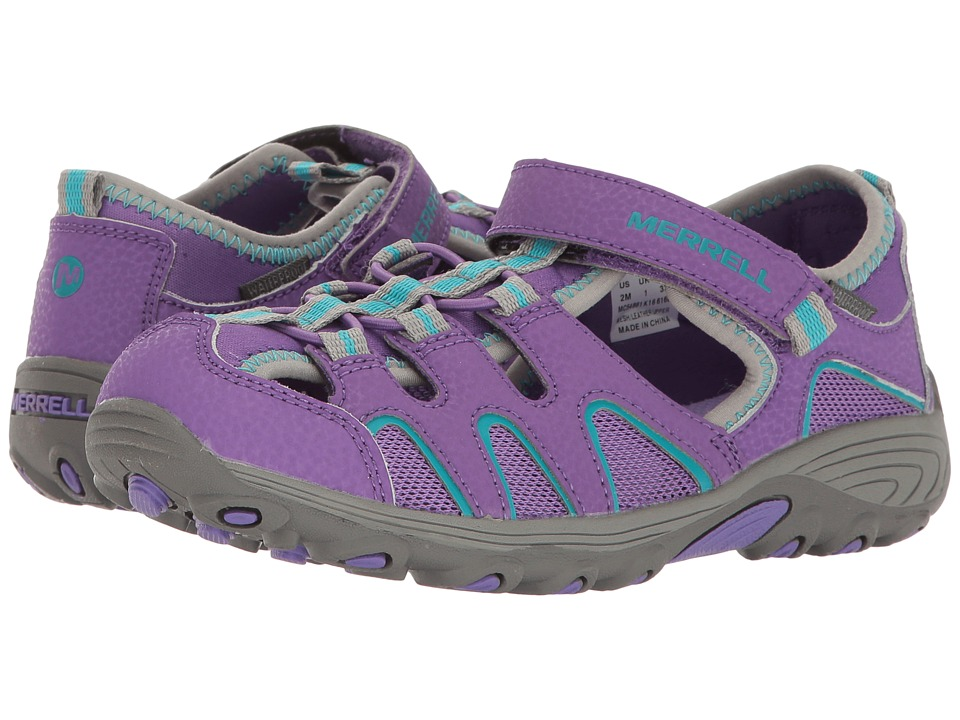 Merrell Kids Hydro H2O Hiker Sandals (Toddler/Little Kid) (Purple/Grey) Girl