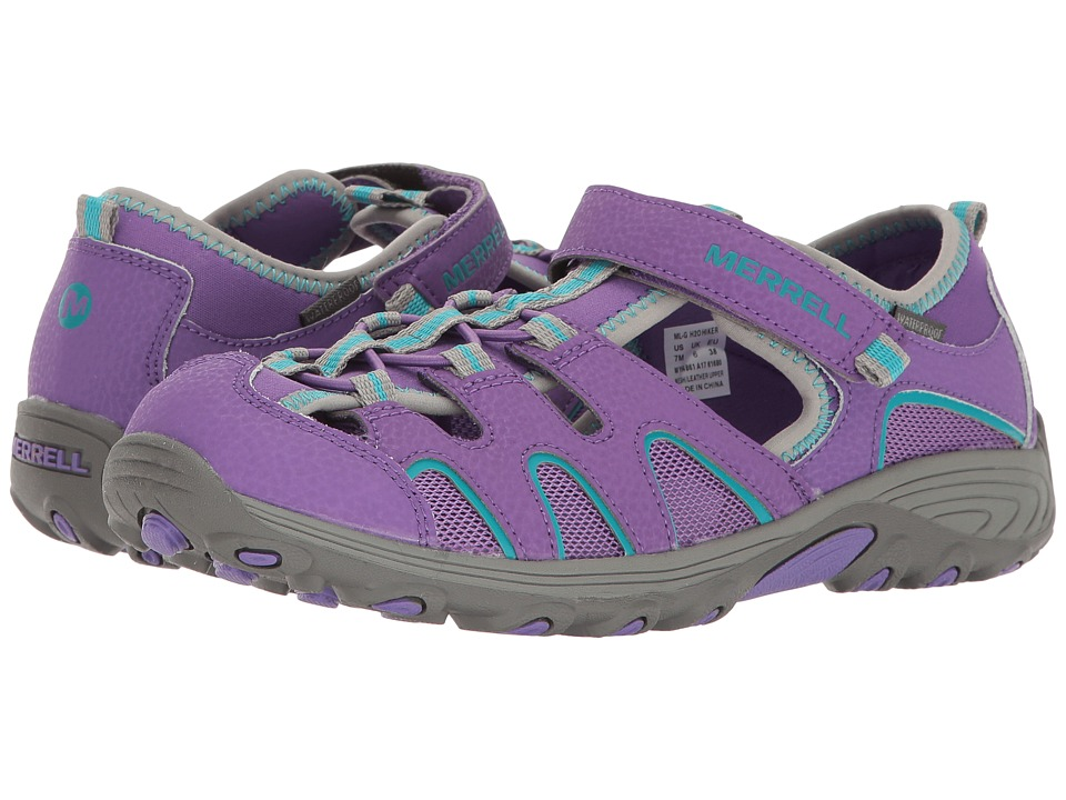 Merrell Kids Hydro H2O Hiker Sandals (Big Kid) (Purple/Grey) Girl