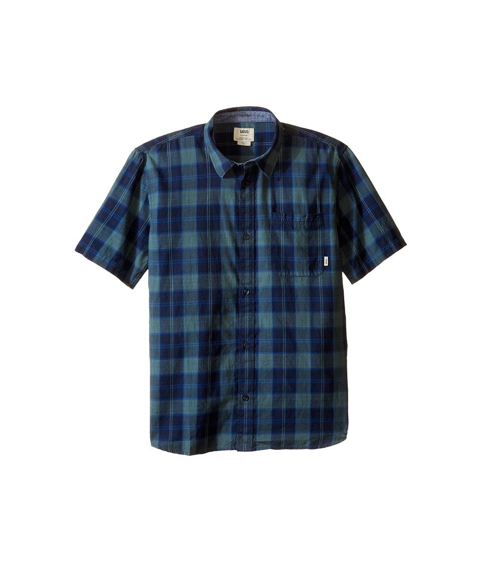 Vans Kids - Chatwin Short Sleeve Woven (Big Kids) (North Atlantic/Dress Blues) Boy's Clothing