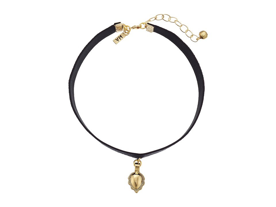 Vanessa Mooney - The Flower Choker Necklace (Gold) Necklace