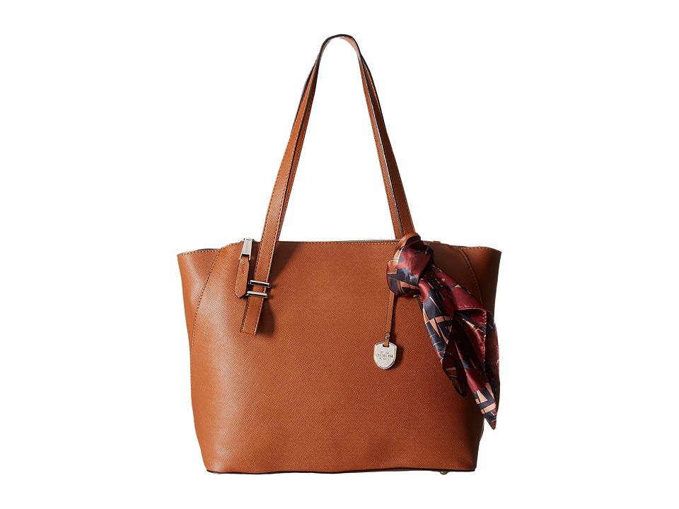 London Fog - Haldon Triple Tote (Cognac) Tote Handbags