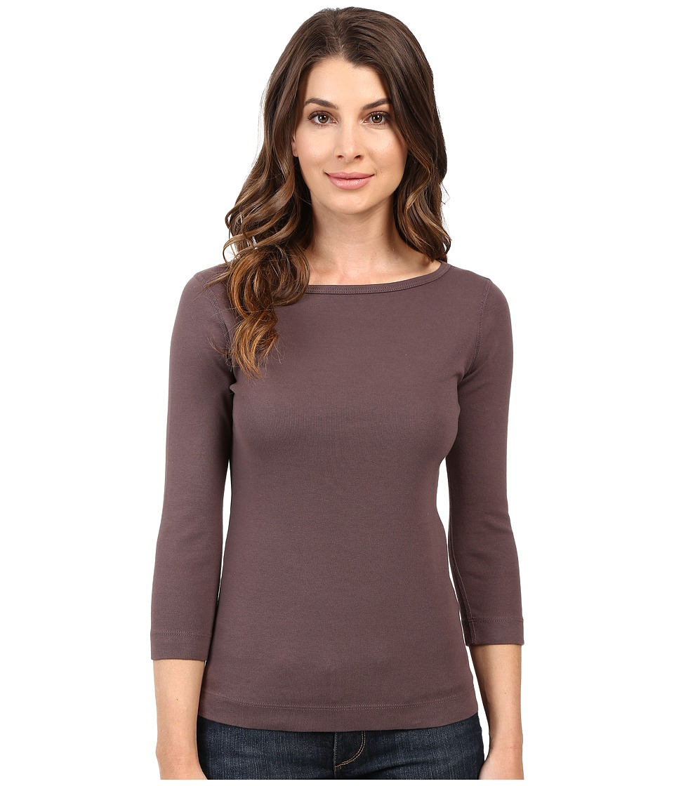 Three Dots - 3/4 Sleeve British Tee (Stardust) Women's Long Sleeve Pullover