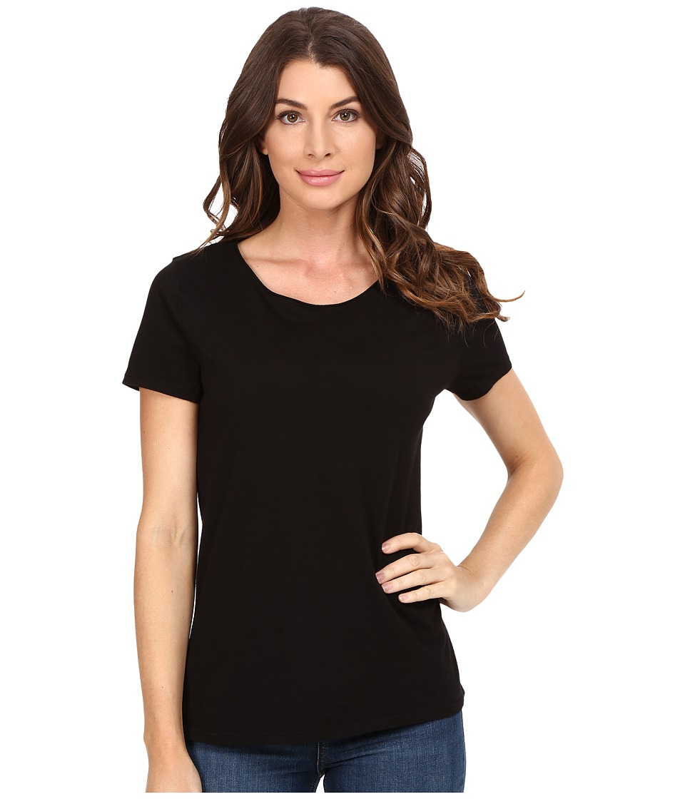 Three Dots - Francine - Short Sleeve Tee (Black) Women's T Shirt