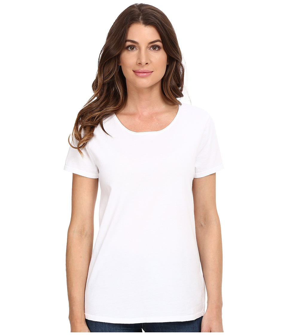 Three Dots - Francine - Short Sleeve Tee (White) Women's T Shirt