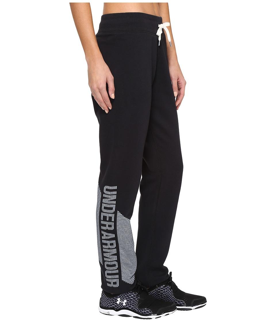 Under Armour - Favorite Fleece Pants (Black/White) Women's Casual Pants