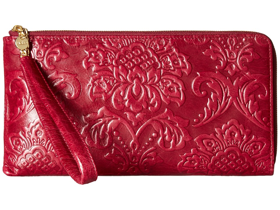 Hobo - Rylan (Damask Embossed Red Plum) Handbags