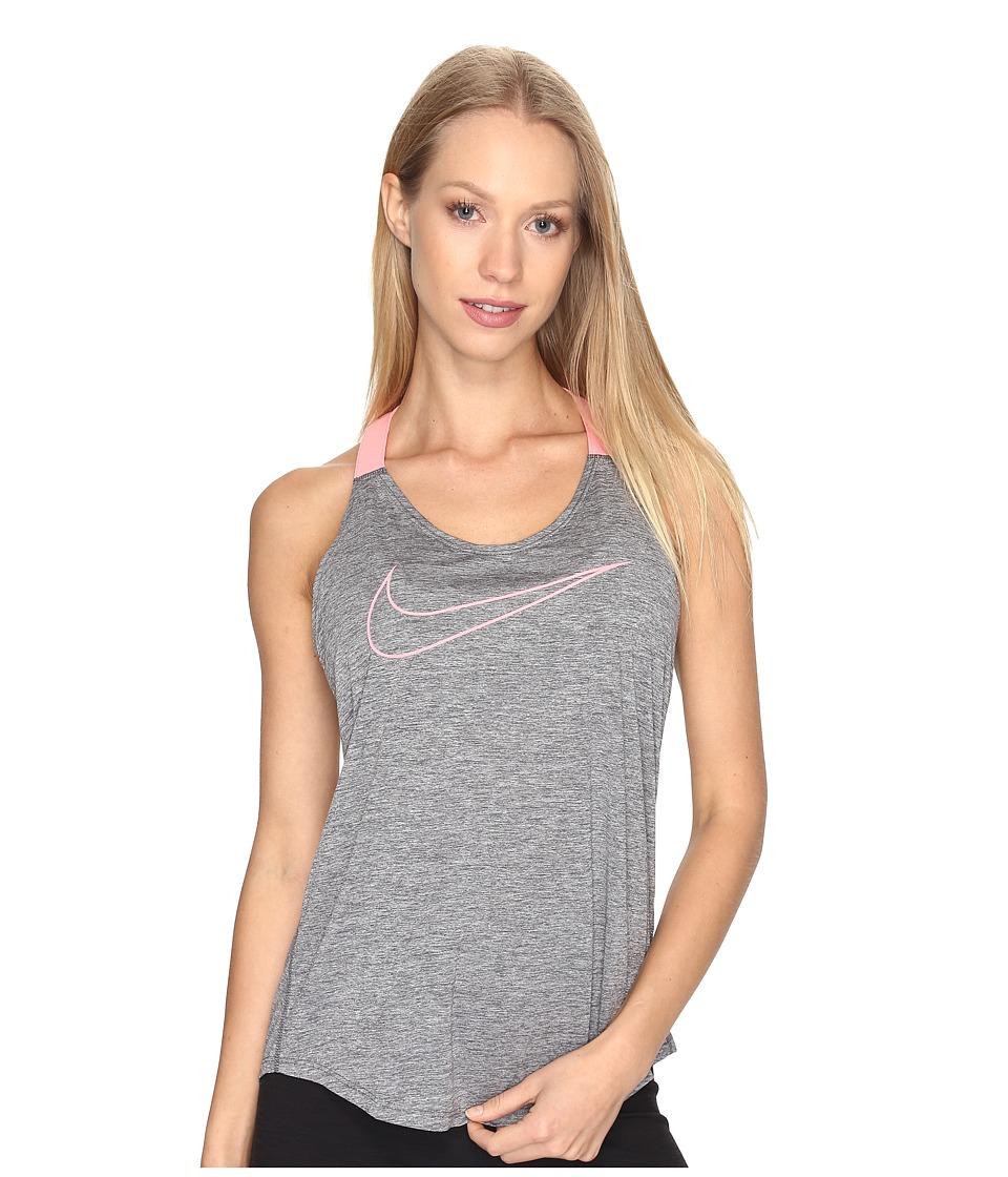 Nike - Dry Training Tank (Dark Grey/Heather/Bright Melon) Women's Sleeveless
