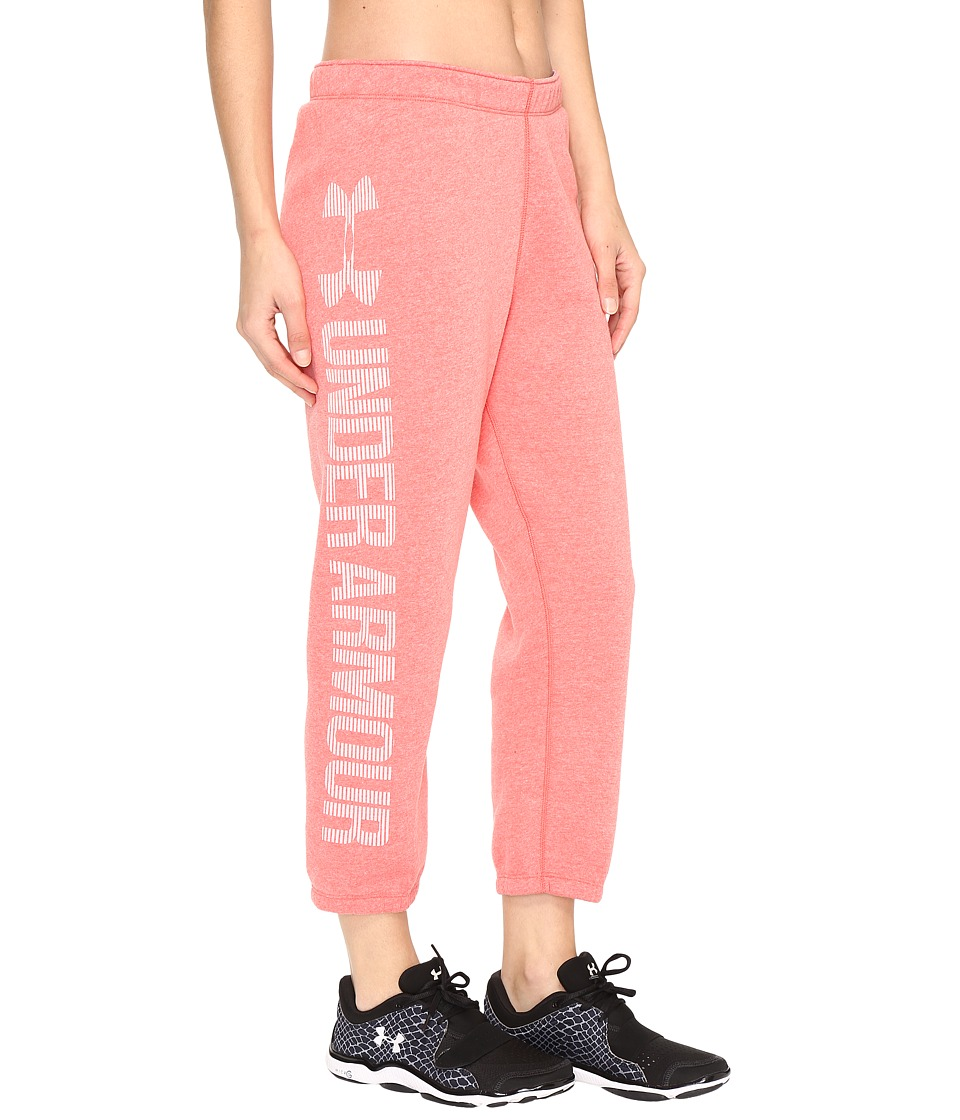Under Armour Favorite Fleece Capris (Pomegranate Light Heather) Women