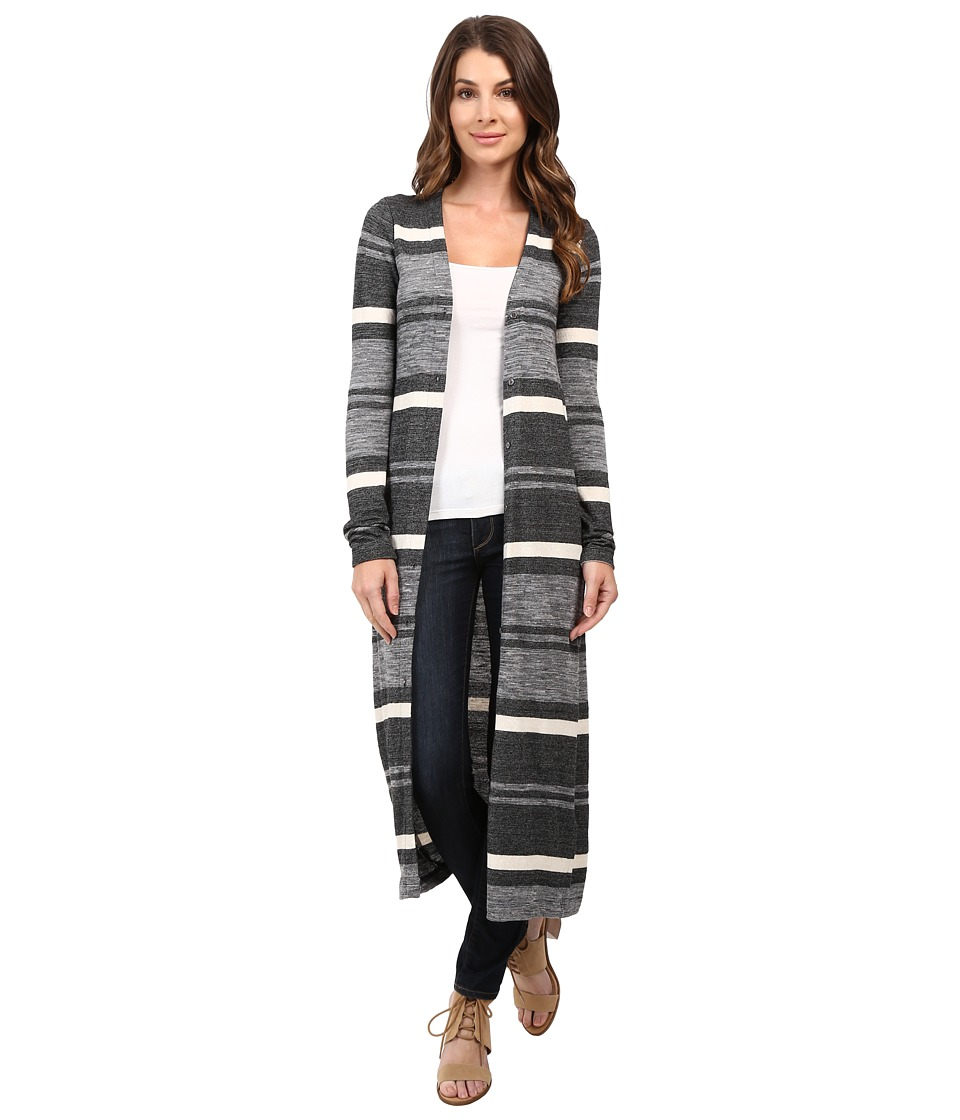 Three Dots - Saylor - Long Cardigan (Black Combo) Women's Sweater