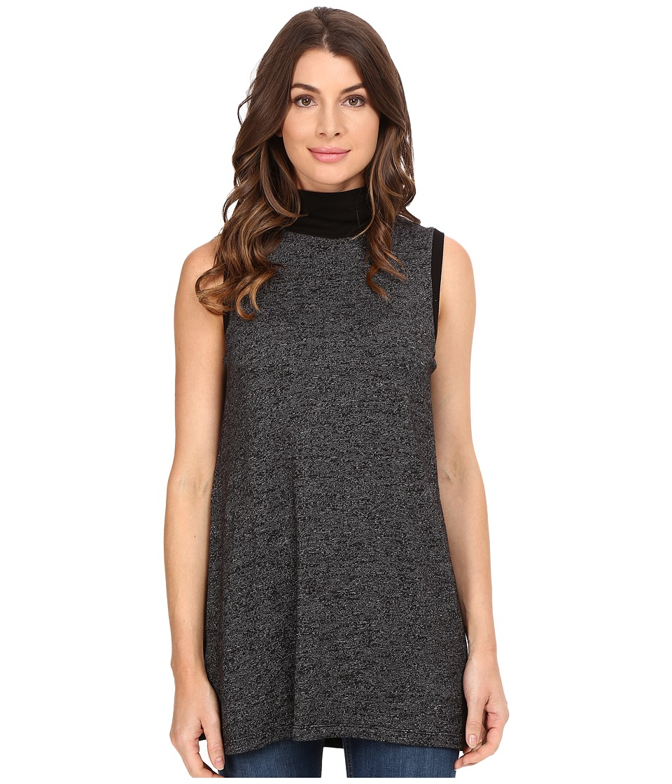Three Dots Mckenna Oversized Sweatshirt (Black) Women