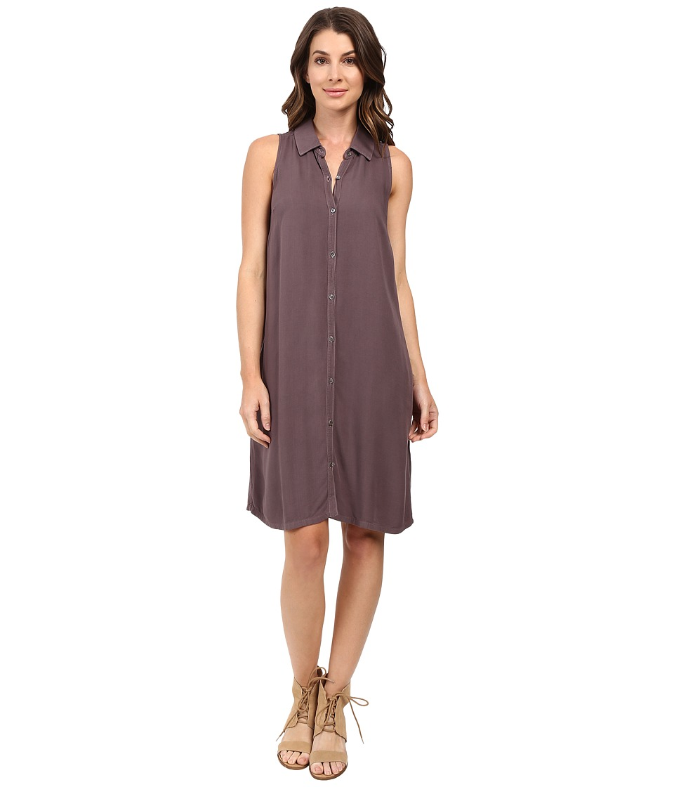 Three Dots - Sleeveless Shirtdress (Stardust) Women's Dress