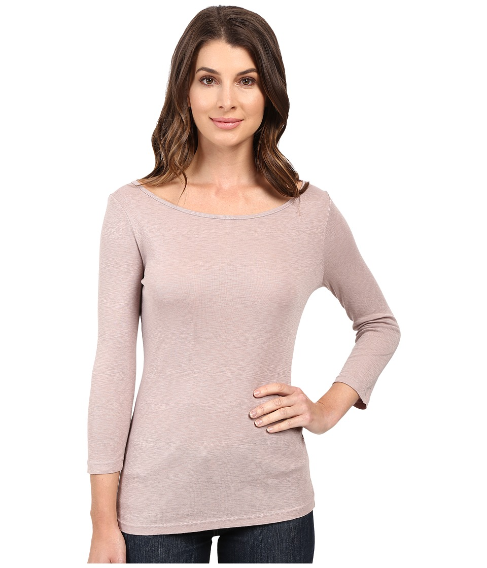 Three Dots Hannah 3/4 Sleeve British Tee (Ballet Pink) Women