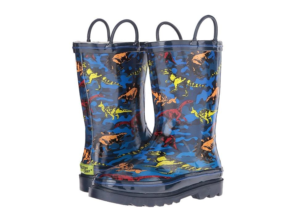 Western Chief Kids - Hidden Dinos (Toddler/Little Kid) (Navy) Boys Shoes