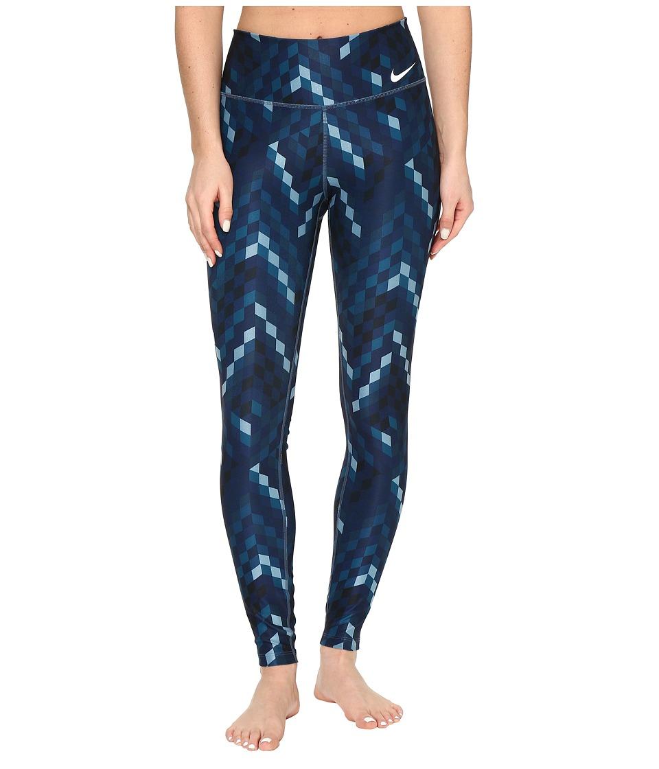 Nike - Power Legend Training Tight (Squadron Blue/White) Women's Casual Pants