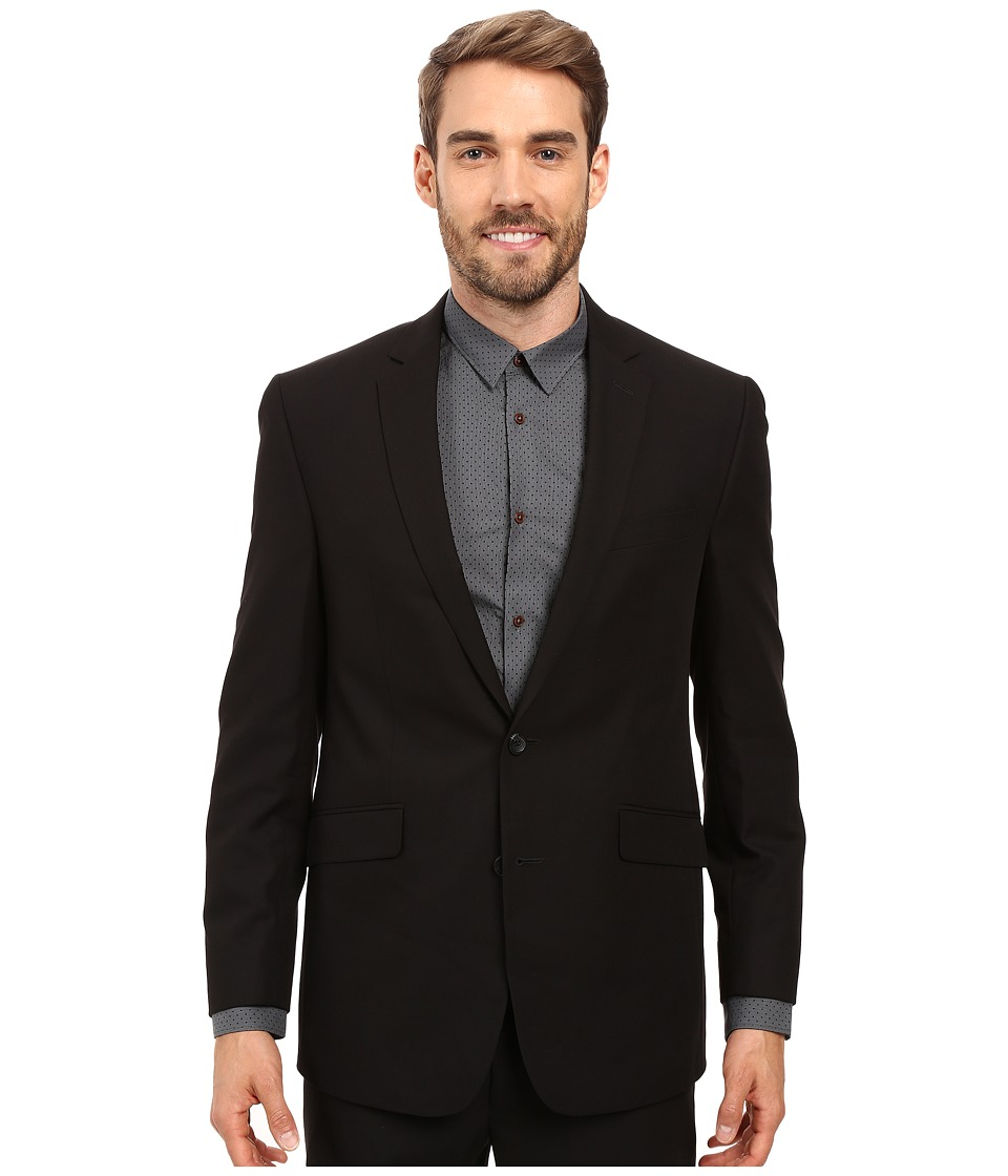 Kenneth Cole Reaction - Slim Fit Separate Coat (Black) Men's Coat