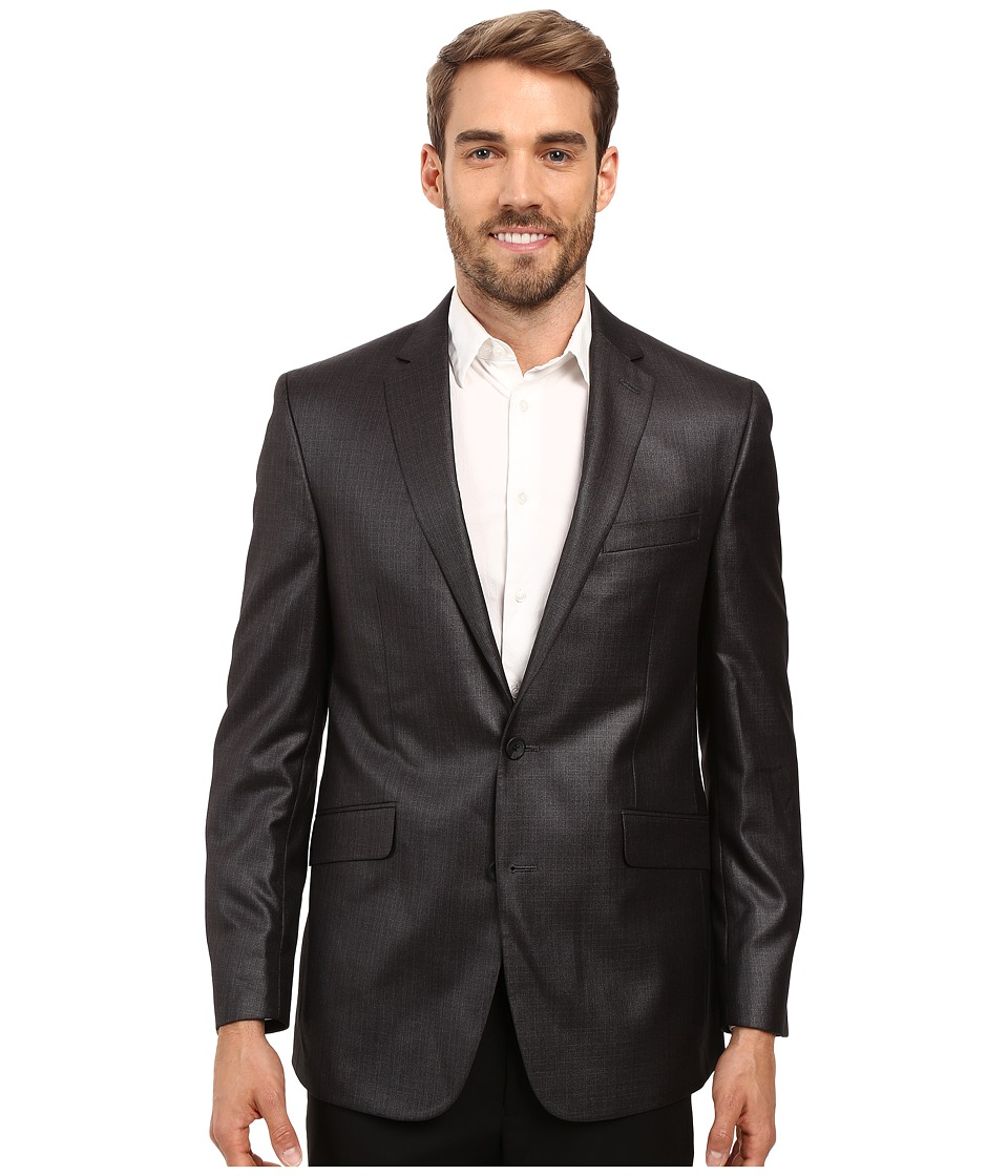 Kenneth Cole Reaction - Slim Fit Separate Coat (Grey Sheen) Men's Coat