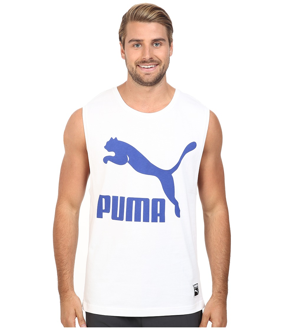 PUMA - Archive Logo Tank Top (White) Men's Sleeveless