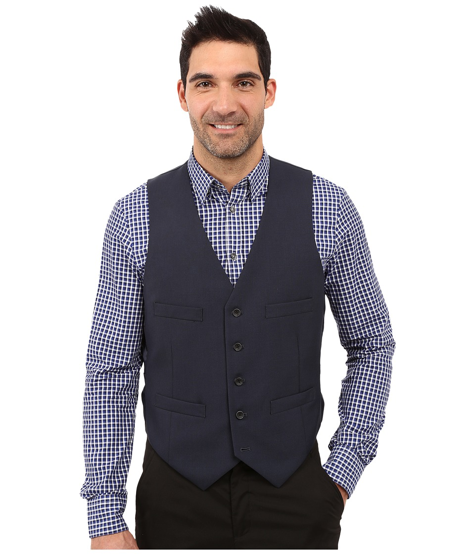 Kenneth Cole Reaction - Slim Fit Separate Vest (Blue) Men's Vest