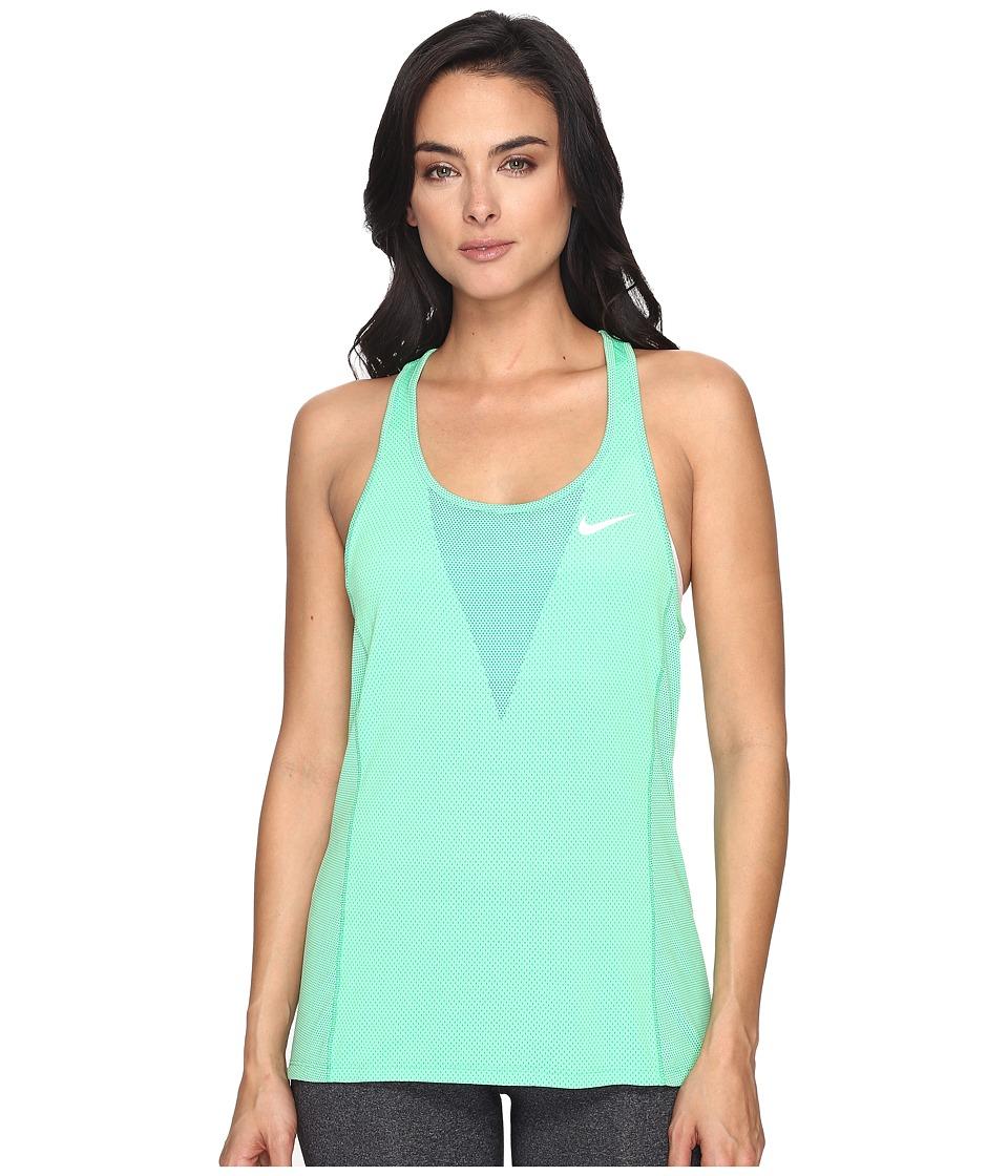 Nike - Dry Running Tank (Electro Green/Reflective Silver) Women's Sleeveless