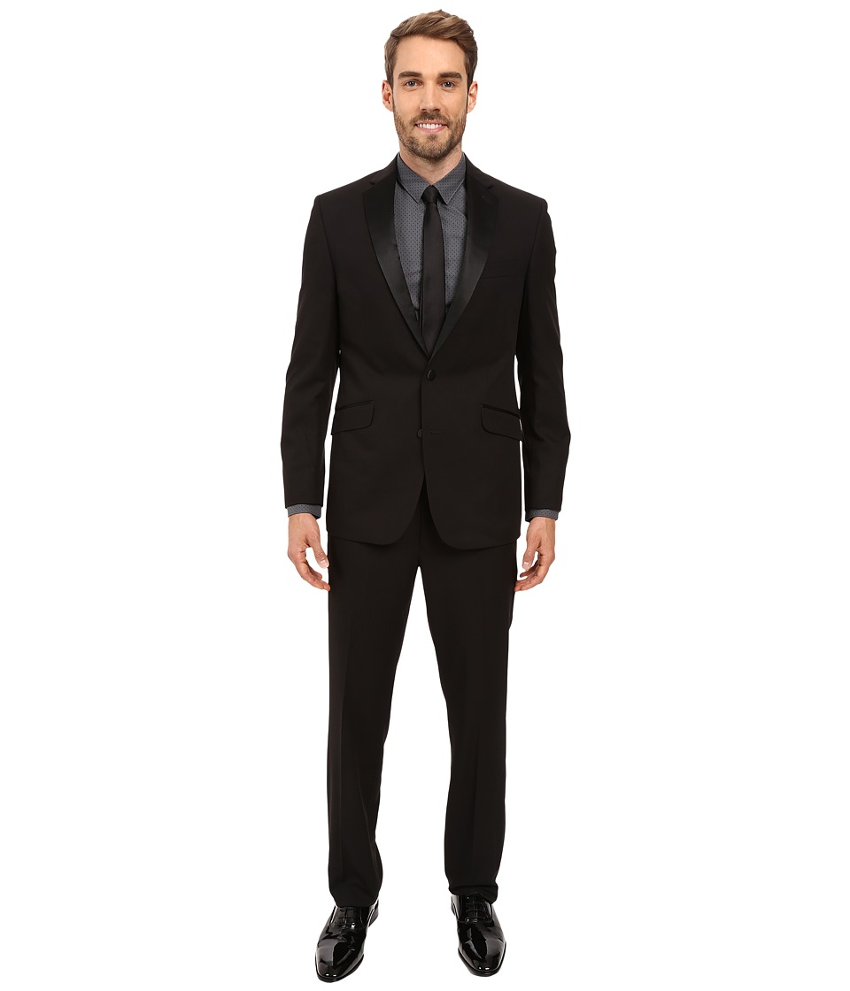 Kenneth Cole Reaction - Slim Fit Tuxedo (Black) Men's Suits Sets