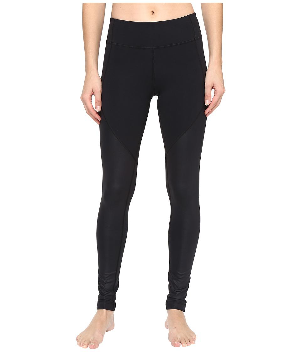 Under Armour - Mirror Shine Leggings (Black/Black) Women's Casual Pants