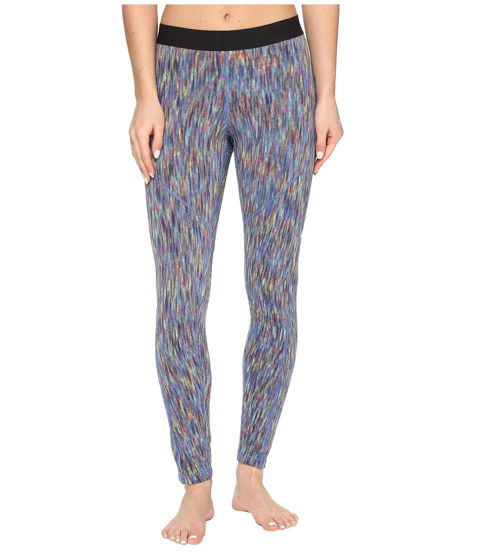 Nike - Pro Hyperwarm Training Tight (Comet Blue/Cosmic Purple/White) Women's Casual Pants