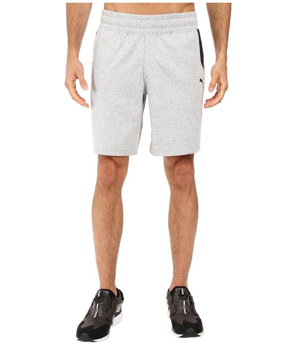 PUMA - Ferrari Sweatshorts (Light Gray Heather) Men's Shorts