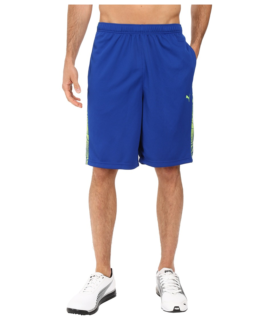 PUMA - Formstripe 10 Short (Surf The Web/Green Gecko) Men's Shorts