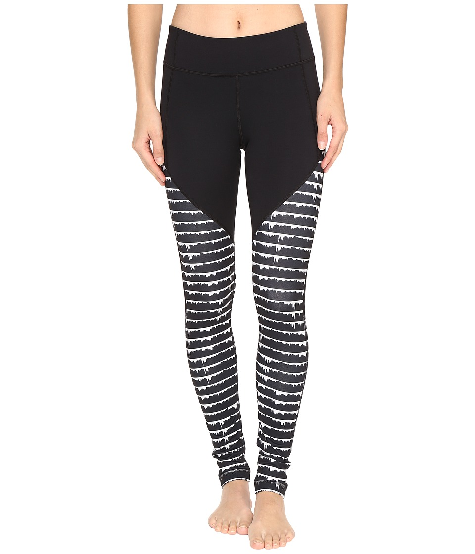 Under Armour - Mirror Color Block Printed Leggings (Black/Black) Women's Casual Pants