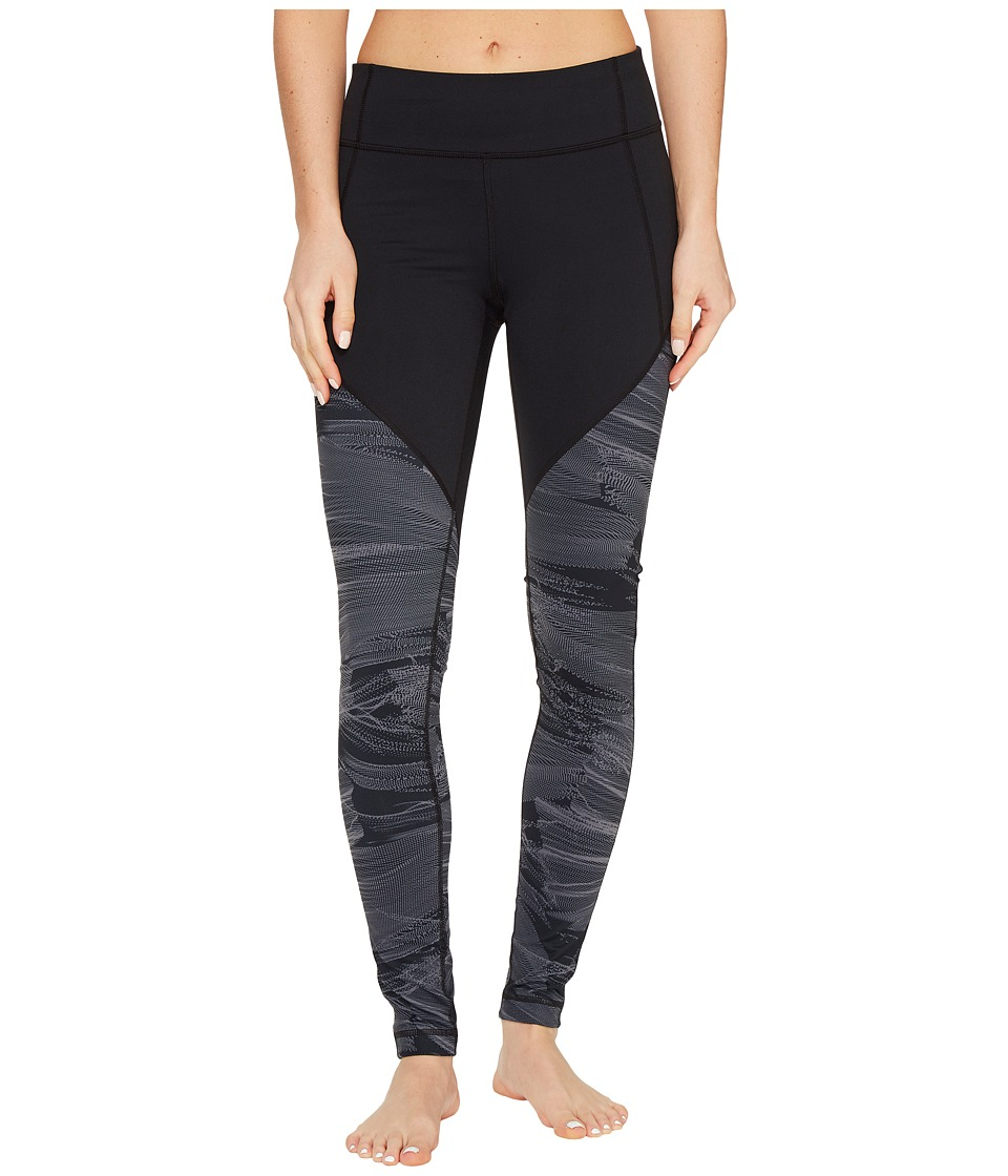 Under Armour - Mirror Color Block Printed Leggings (Black/Black 1) Women's Casual Pants