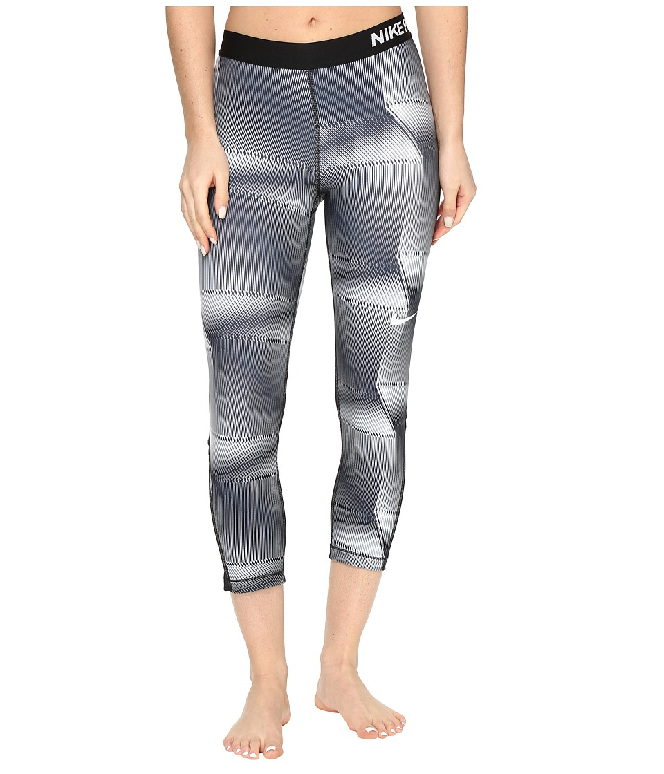 Nike Pro Cool Pyramid Print Training Capri (Black/White) Women