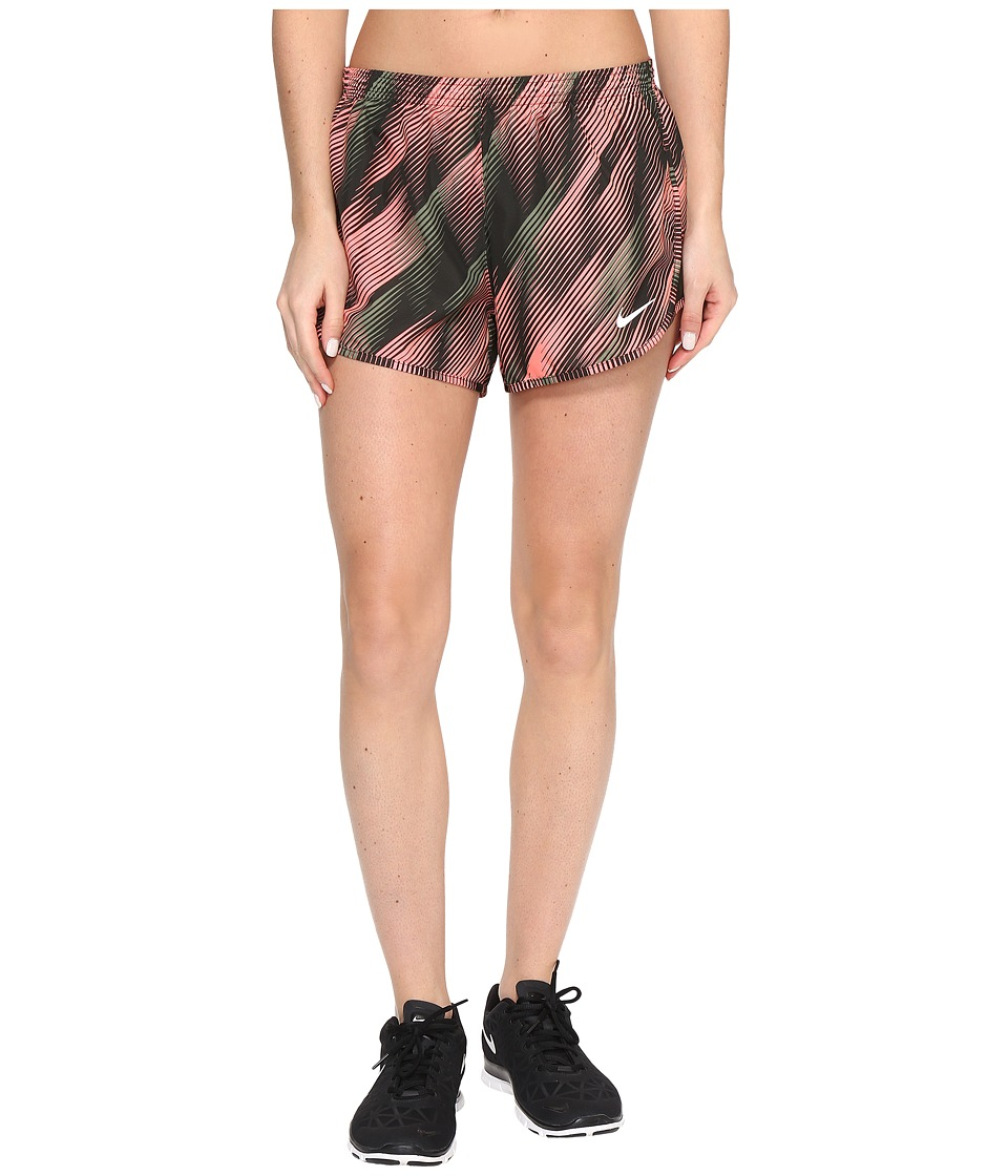 Nike - Dry Tempo 3 Running Short (Lava Glow/Sequoia/Reflective Silver) Women's Shorts