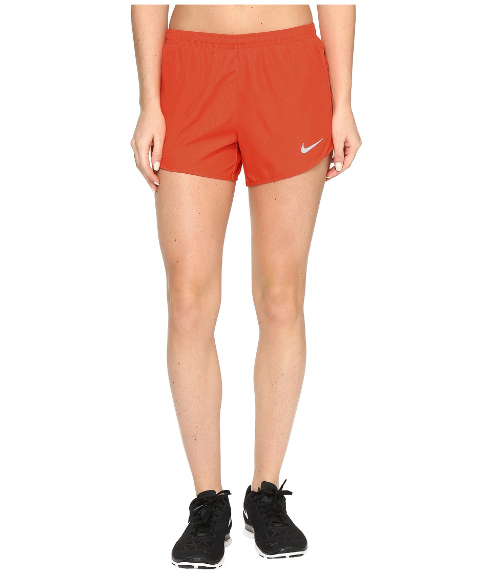 Nike - Dry Tempo 3 Running Short (Max Orange/Reflective Silver) Women's Shorts