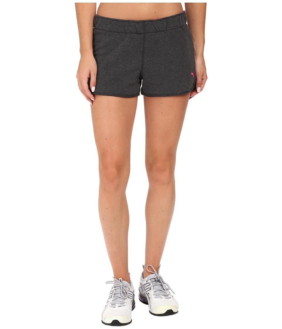 PUMA - Casual Shorts (Dark Gray Heather) Women's Shorts