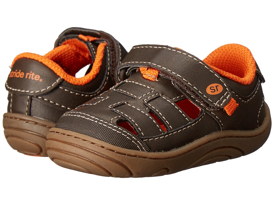 Stride Rite - Foster (Little Kid/Big Kid) (Brown Synthetic) Boy's Shoes