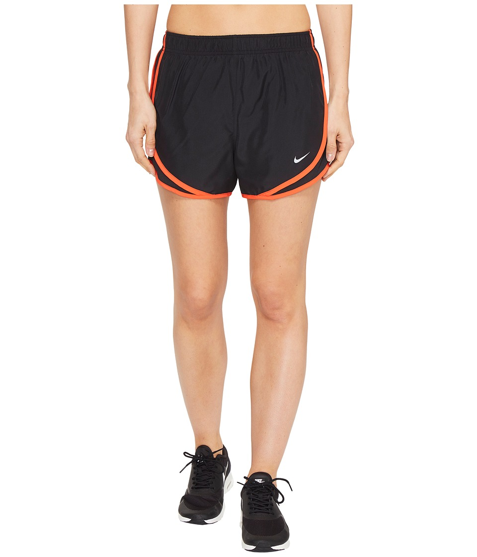 Nike - Dry Tempo Short (Black/Black/Max Orange/Wolf Grey) Women's Shorts