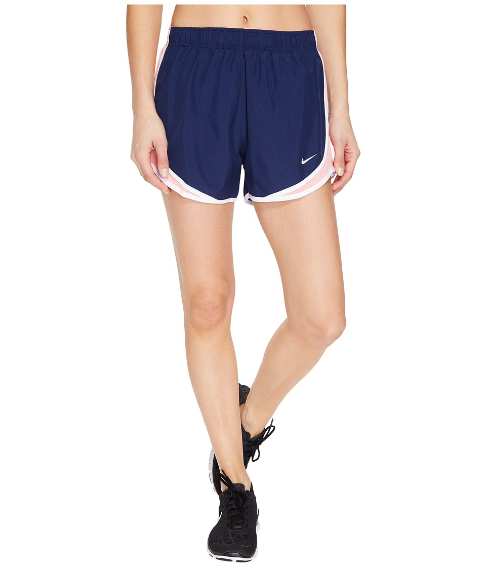 Nike - Dry Tempo Short (Binary Blue/Bright Melon/White/Wolf Grey) Women's Shorts