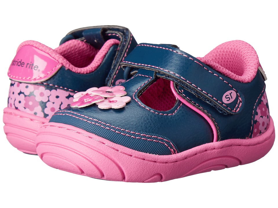 Stride Rite - Baylyn (Infant/Toddler) (Navy Synthetic) Girl's Shoes