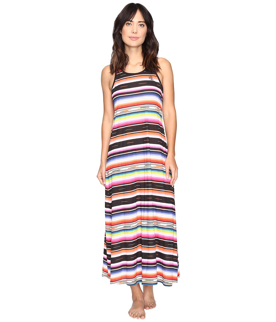 LAUREN Ralph Lauren - Racerback Maxi (Stripe Multi) Women's Pajama
