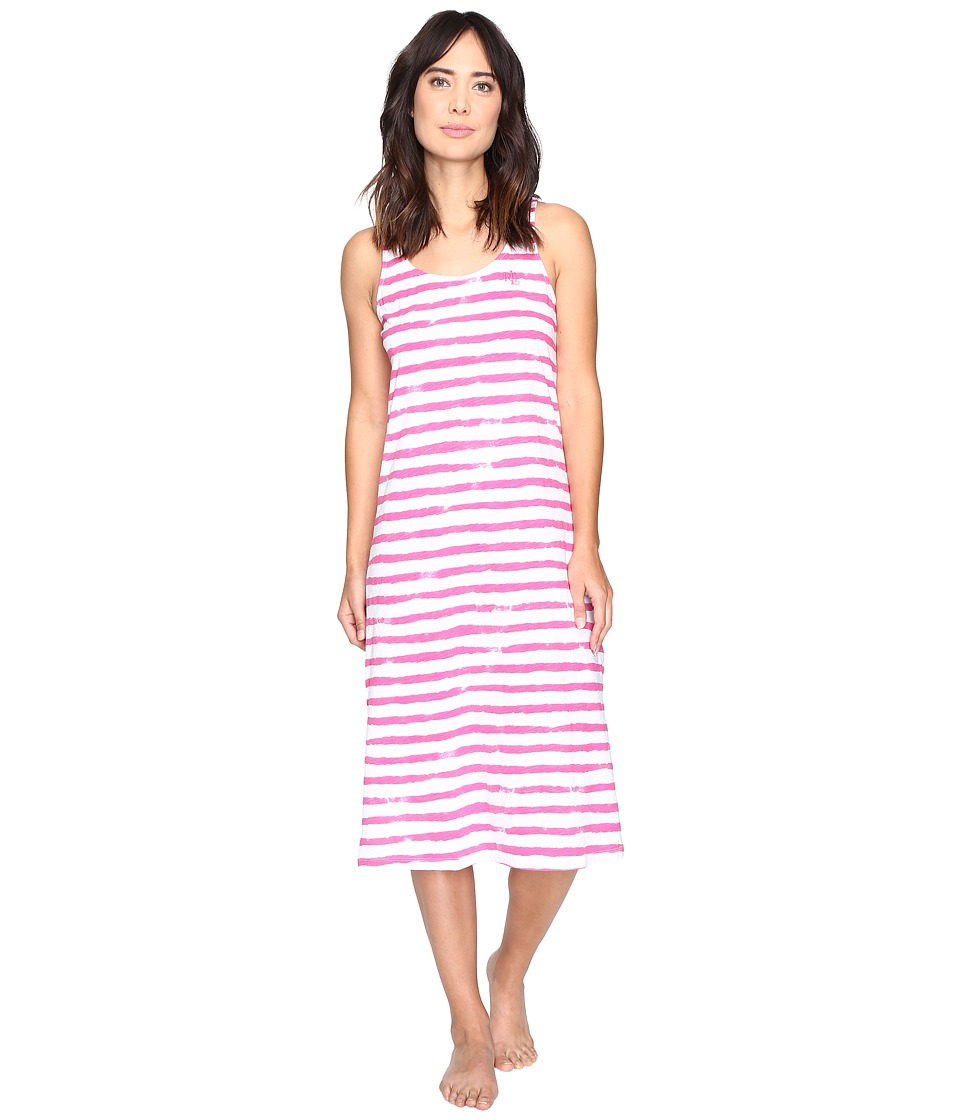 LAUREN Ralph Lauren - Jersey Knit Ballet Gown (Stripe Pink/White) Women's Pajama