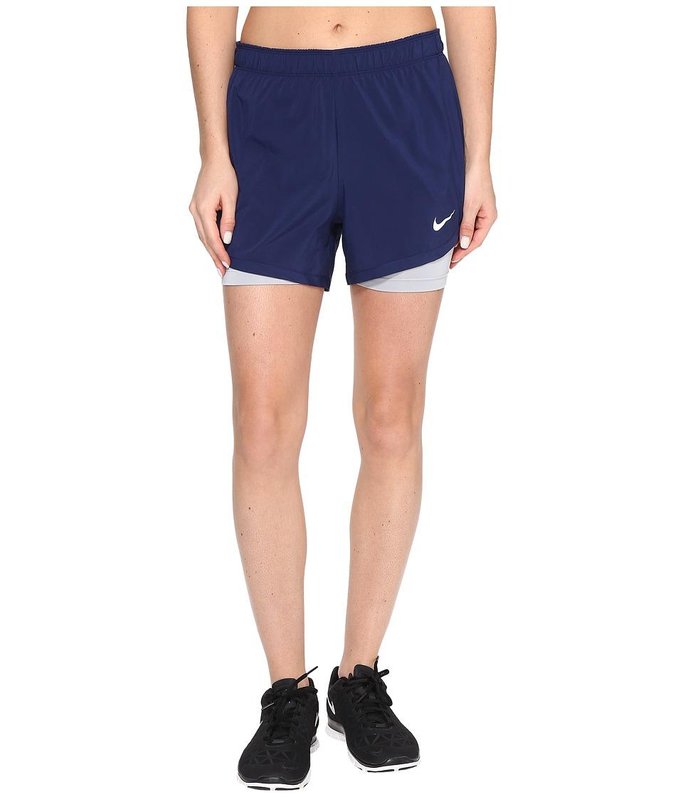 Nike - Flex 2-in-1 Training Short (Binary Blue/Wolf Grey/White) Women's Shorts