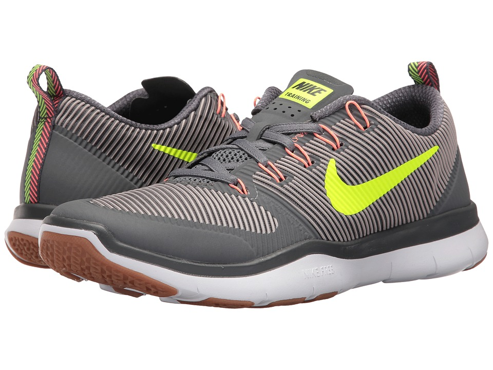 Nike - Free Train Versatility (Dark Grey/Volt/Platinum Grey/Lava Glow) Men's Cross Training Shoes