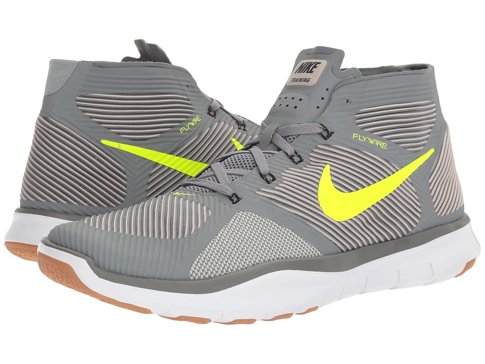 Nike - Free Train Instinct (Cool Grey/Volt/Platinum Grey/Lava Glow) Men's Cross Training Shoes
