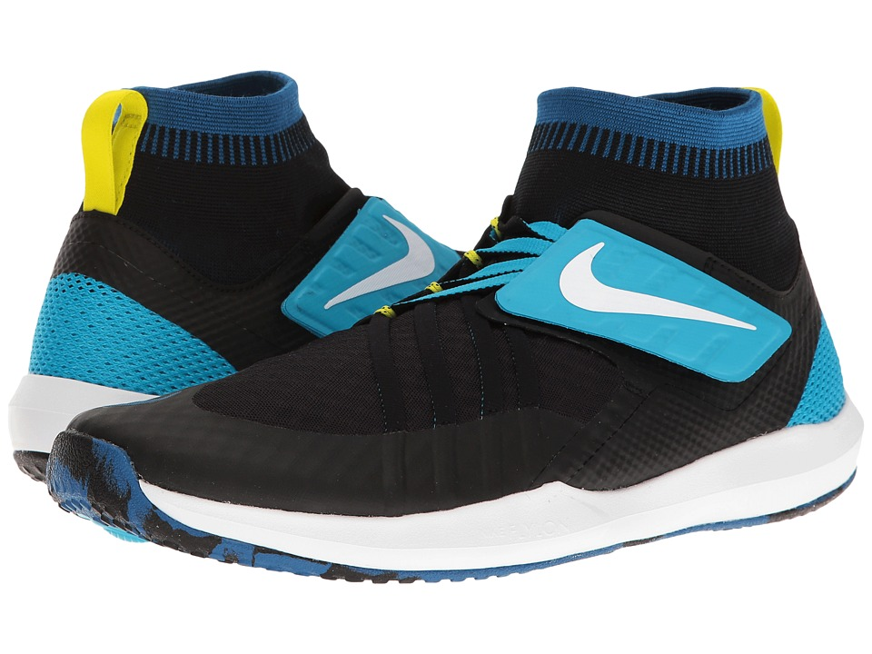 Nike - Train Dynamic (Black/White/Industrial Blue/Chlorine Blue) Men's Cross Training Shoes