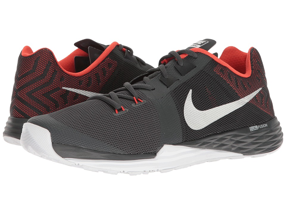 Nike - Train Prime Iron DF (Anthracite/Metallic Silver/Max Orange) Men's Cross Training Shoes