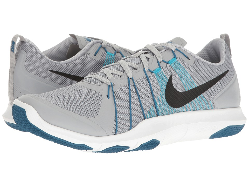 Nike - Flex Train Aver (Wolf Grey/Black/Industrial Blue) Men's Cross Training Shoes