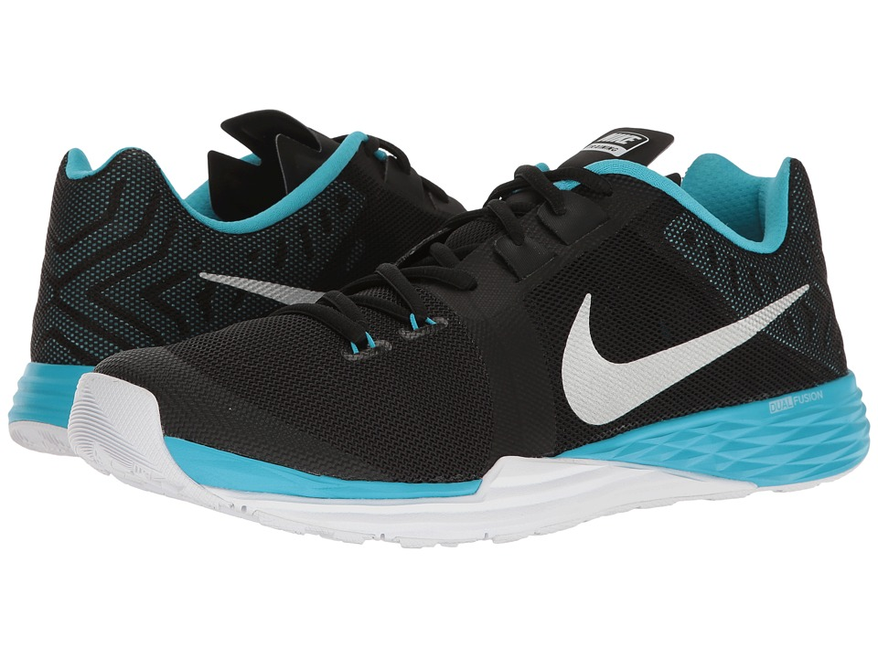 Nike - Train Prime Iron DF (Black/Metallic Silver/Chlorine Blue) Men's Cross Training Shoes