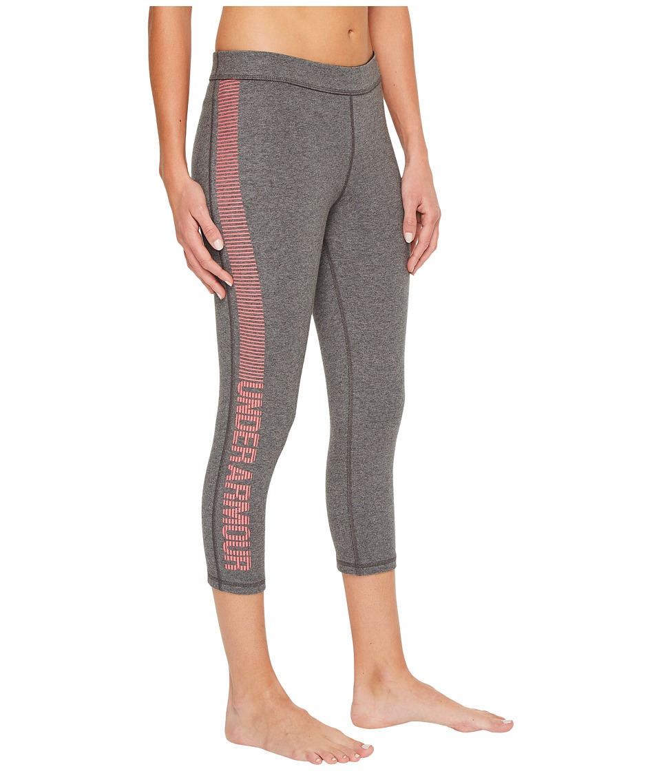 Under Armour Favorite Capris Graphic (Carbon Heather/Pink Shock) Women